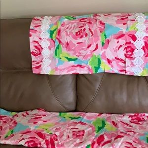Lily Pulitzer full size duvet cover & pillow shams